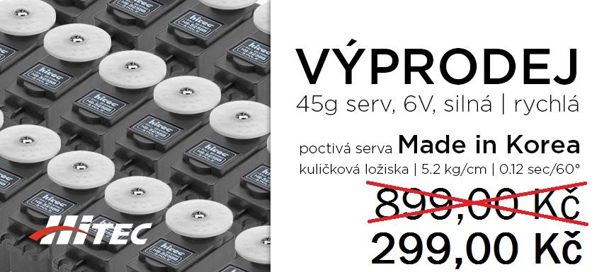 Výprodej Hitec HS-525BB a HS-545BB